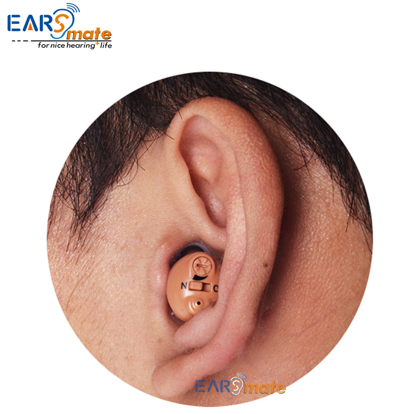 rechargeable cic hearing aid in ear canal